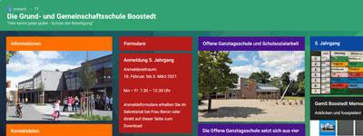 Schule Boostedt - Unsere Pinnwand fürden Tag der offenen Tür
